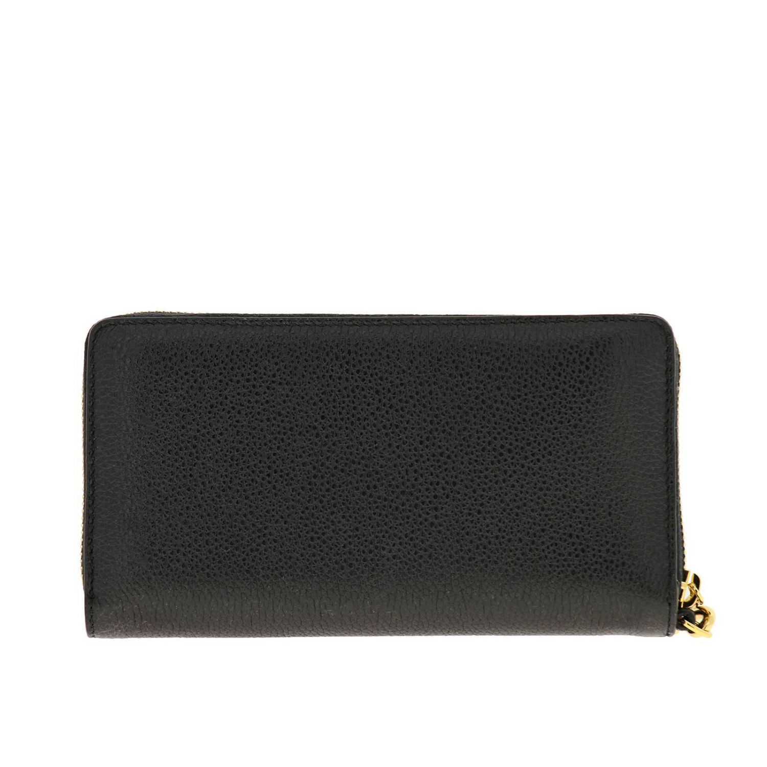 Wallet Gucci: Gucci continental hammered leather walletwith bicolor GG monogram black 3