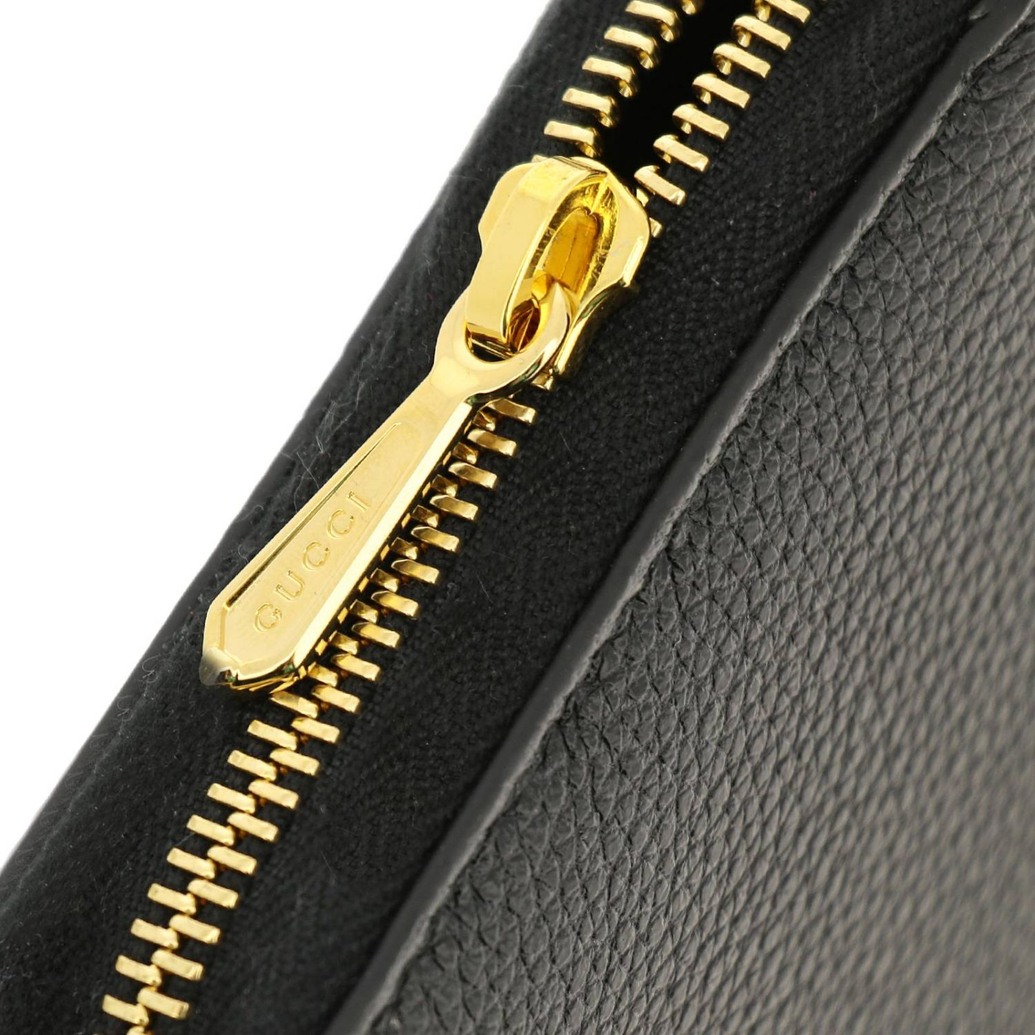Wallet Gucci: Gucci continental hammered leather walletwith bicolor GG monogram black 4