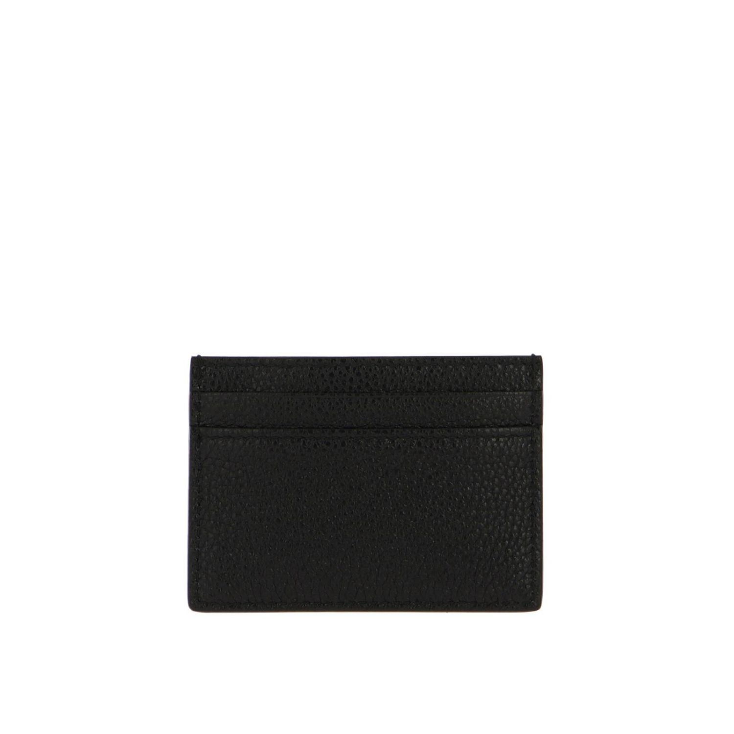 Wallet Gucci: Card holder in hammered leather with Gucci bicolor monogram black 2