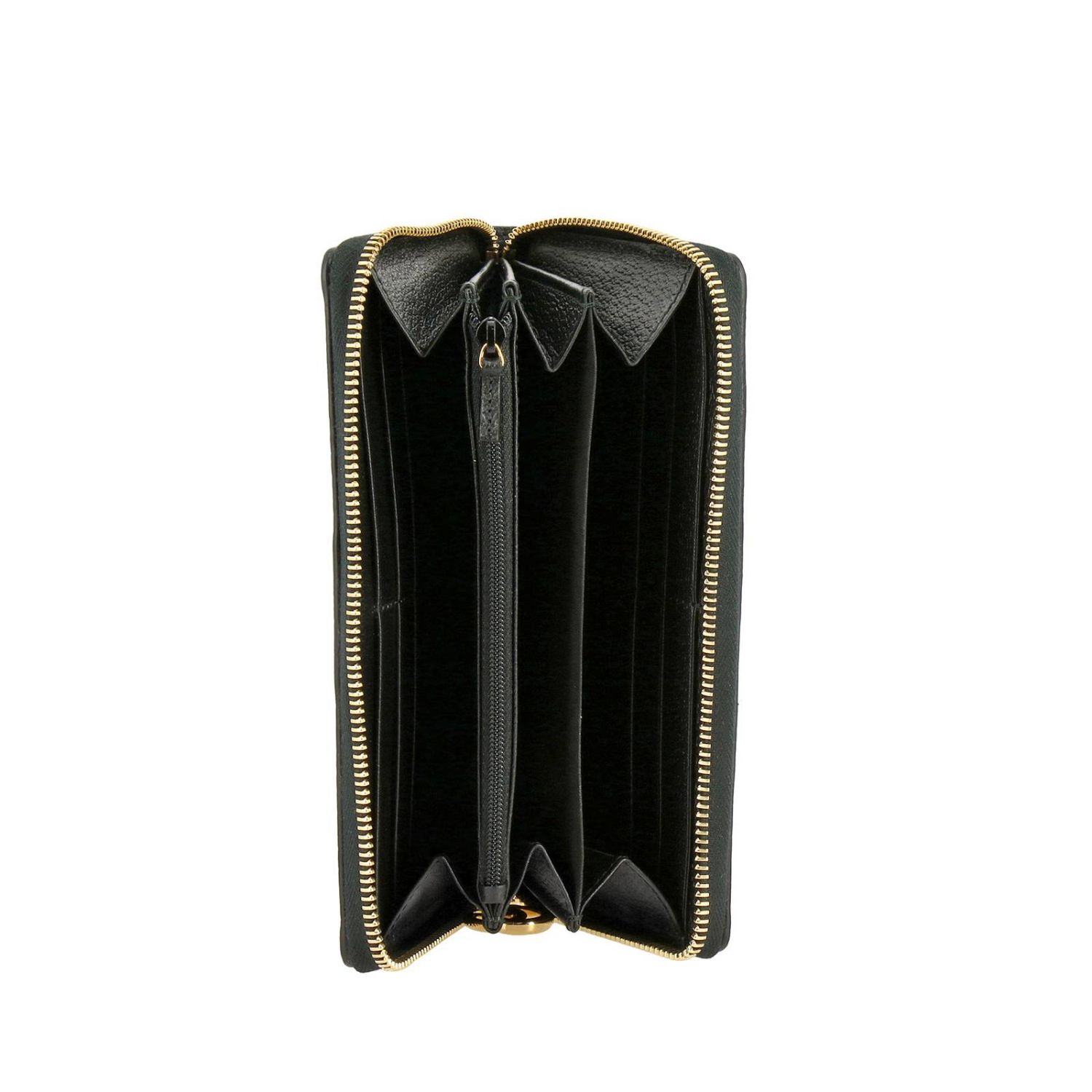 Wallet Gucci: Ophidia Gucci textured leather wallet with Web band and GG monogram black 2
