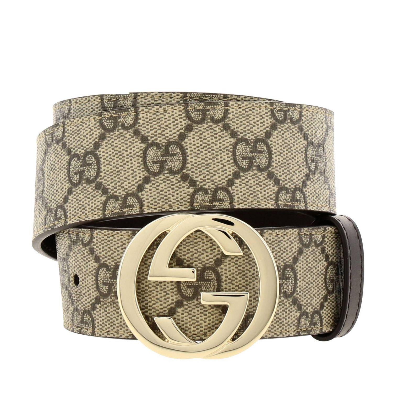 Belt Gucci: Gucci Supreme belt in leather beige 1
