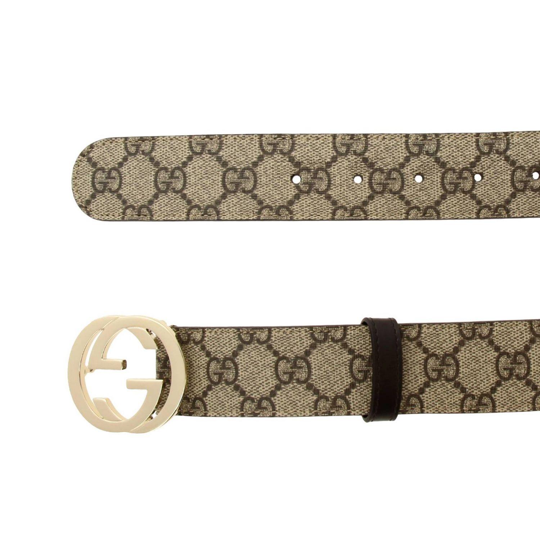 Belt Gucci: Gucci Supreme belt in leather beige 2