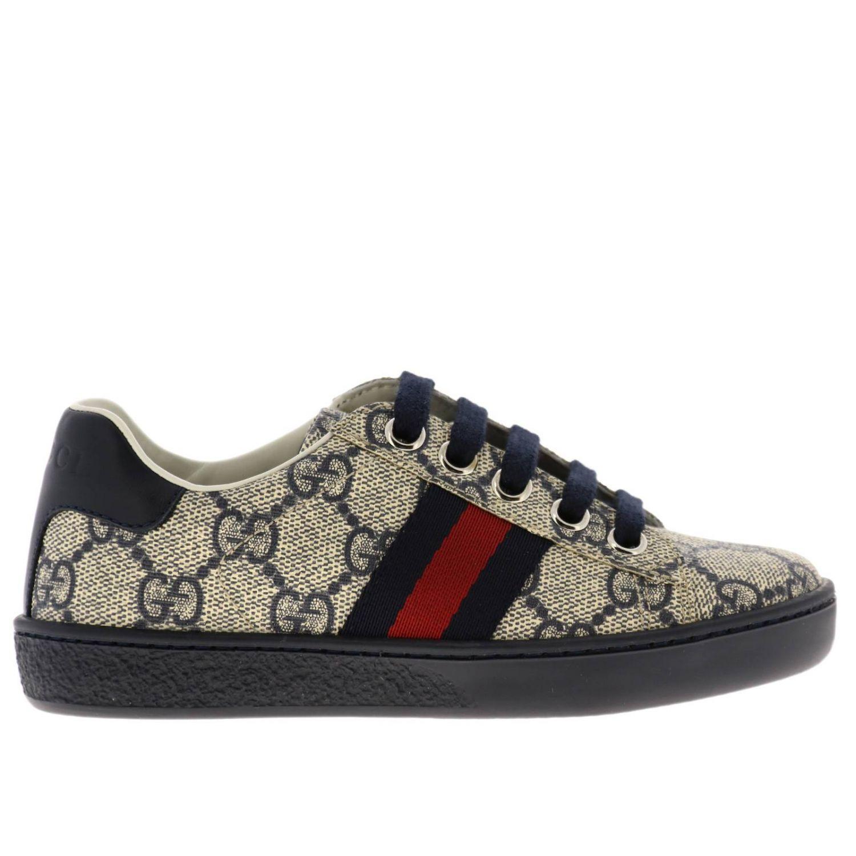 Sneakers Gucci GG Supreme con fasce Web blue 1