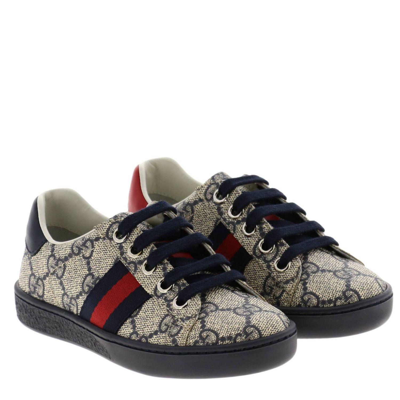Sneakers Gucci GG Supreme con fasce Web blue 2