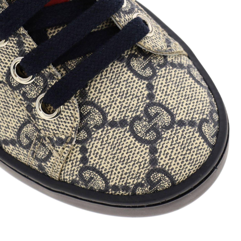 Sneakers Gucci GG Supreme con fasce Web blue 3