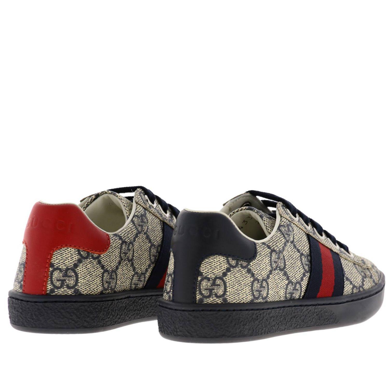 Sneakers Gucci GG Supreme con fasce Web blue 4