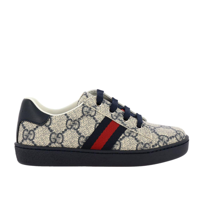 Scarpe Gucci: Sneakers Gucci GG Supreme con fasce Web blue 1