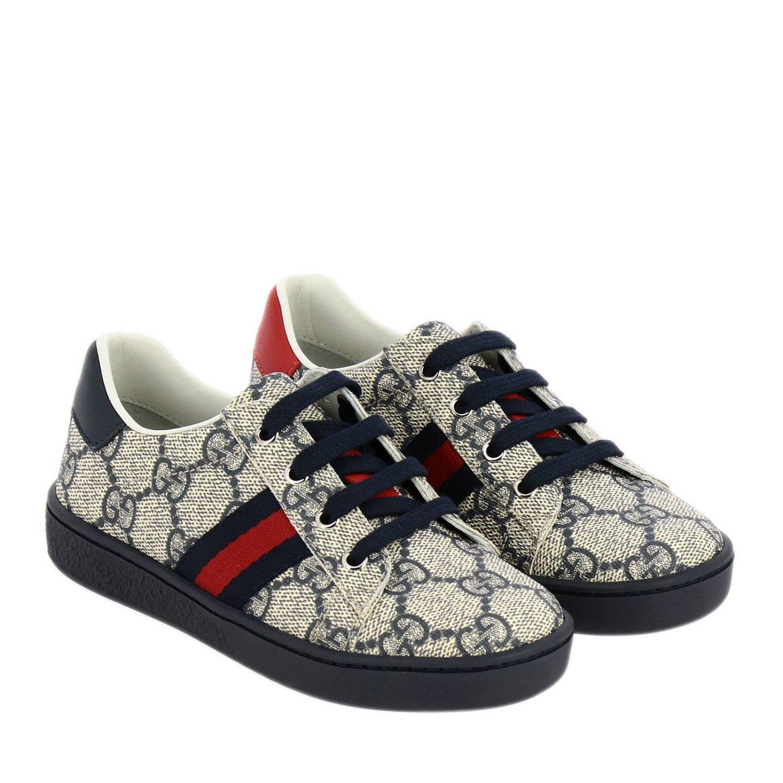 Scarpe Gucci: Sneakers Gucci GG Supreme con fasce Web blue 2
