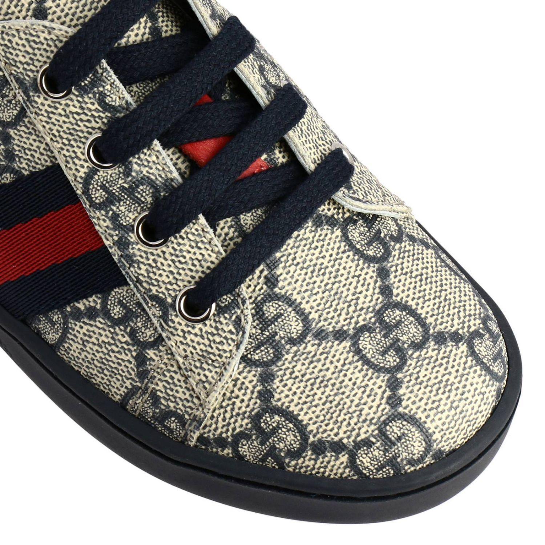Scarpe Gucci: Sneakers Gucci GG Supreme con fasce Web blue 3