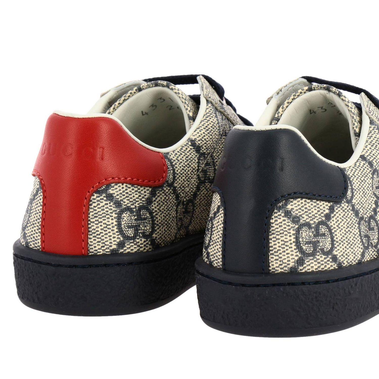 Scarpe Gucci: Sneakers Gucci GG Supreme con fasce Web blue 4