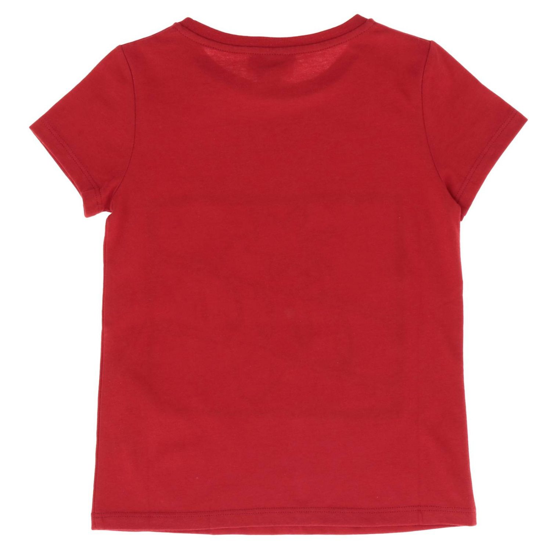 T-shirt Gucci a maniche corte con maxi stampa fragola rosso 2
