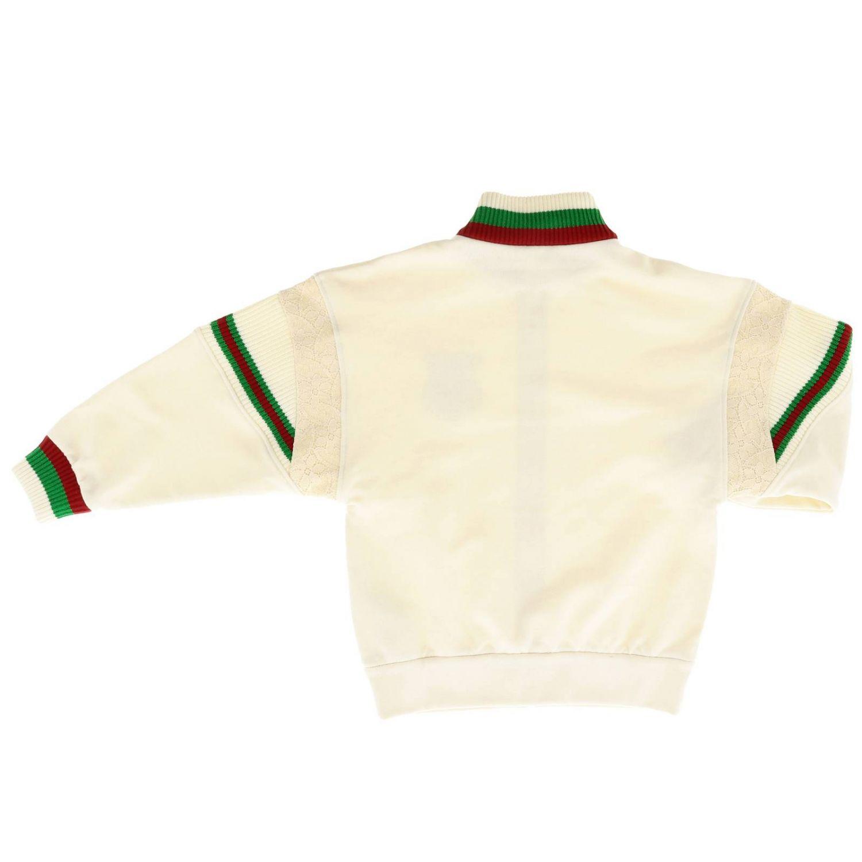 Felpa Gucci con bordi Web e logo bianco 2