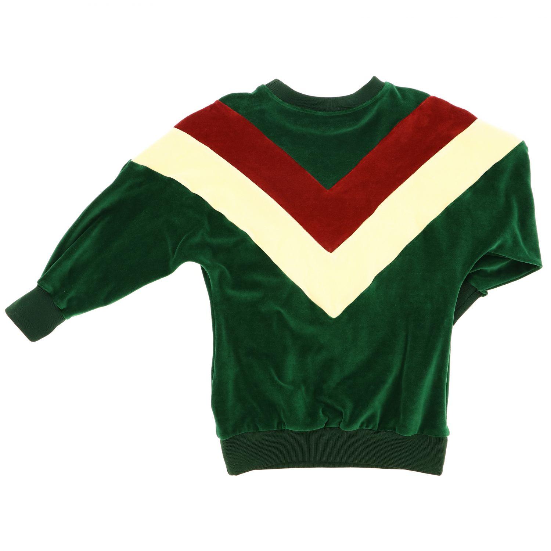 Gucci Kleid mit Maxi Webbändern und Logo grün 2