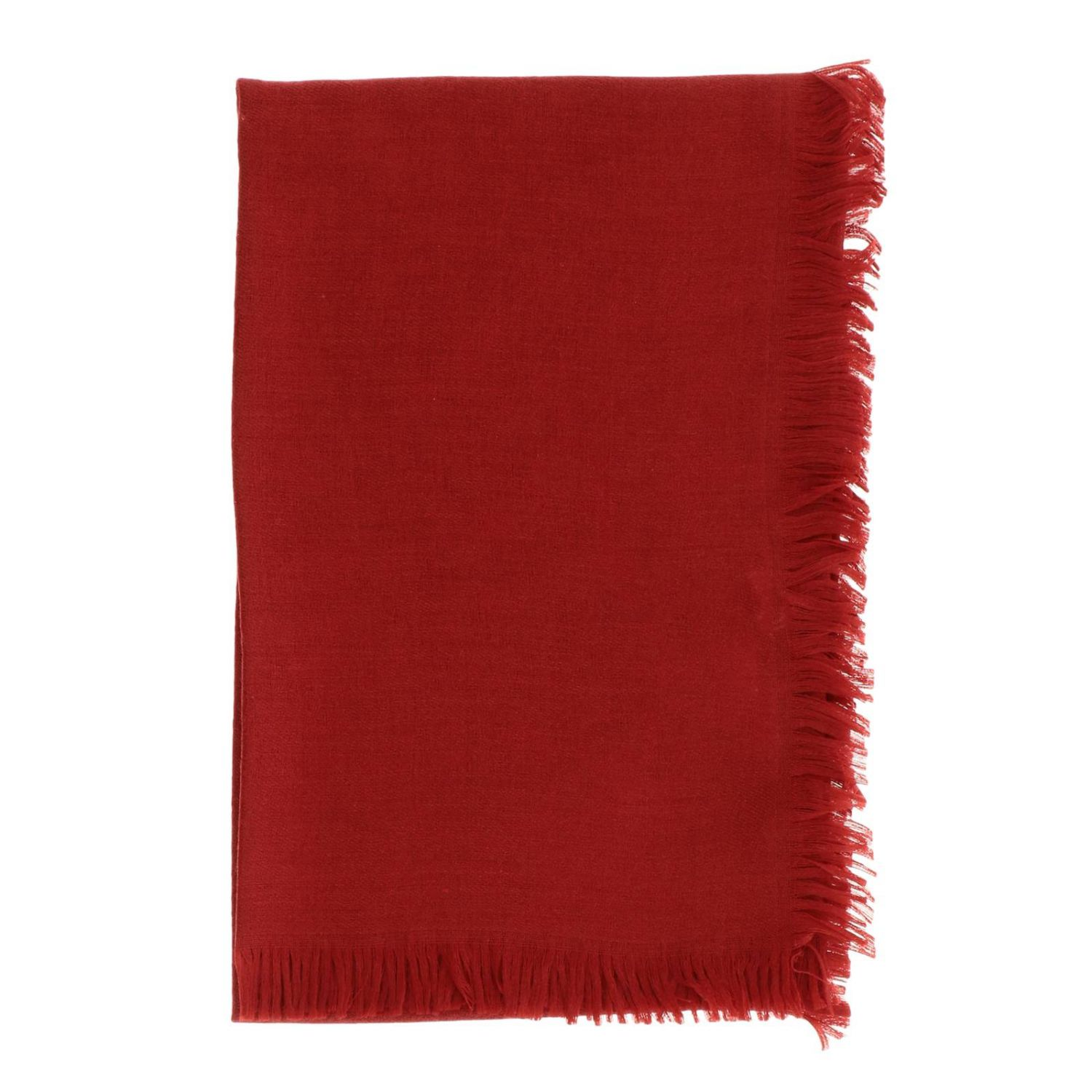 Gucci scarf in cotton wool and silk red 1