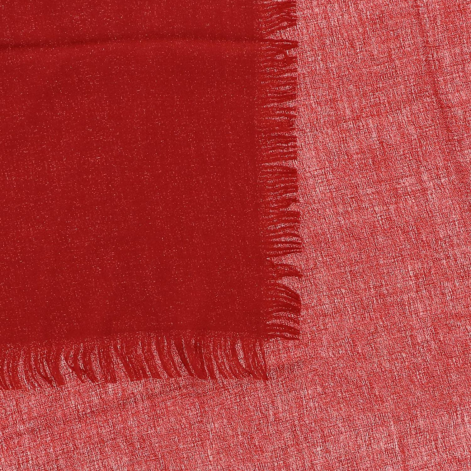Gucci scarf in cotton wool and silk red 3