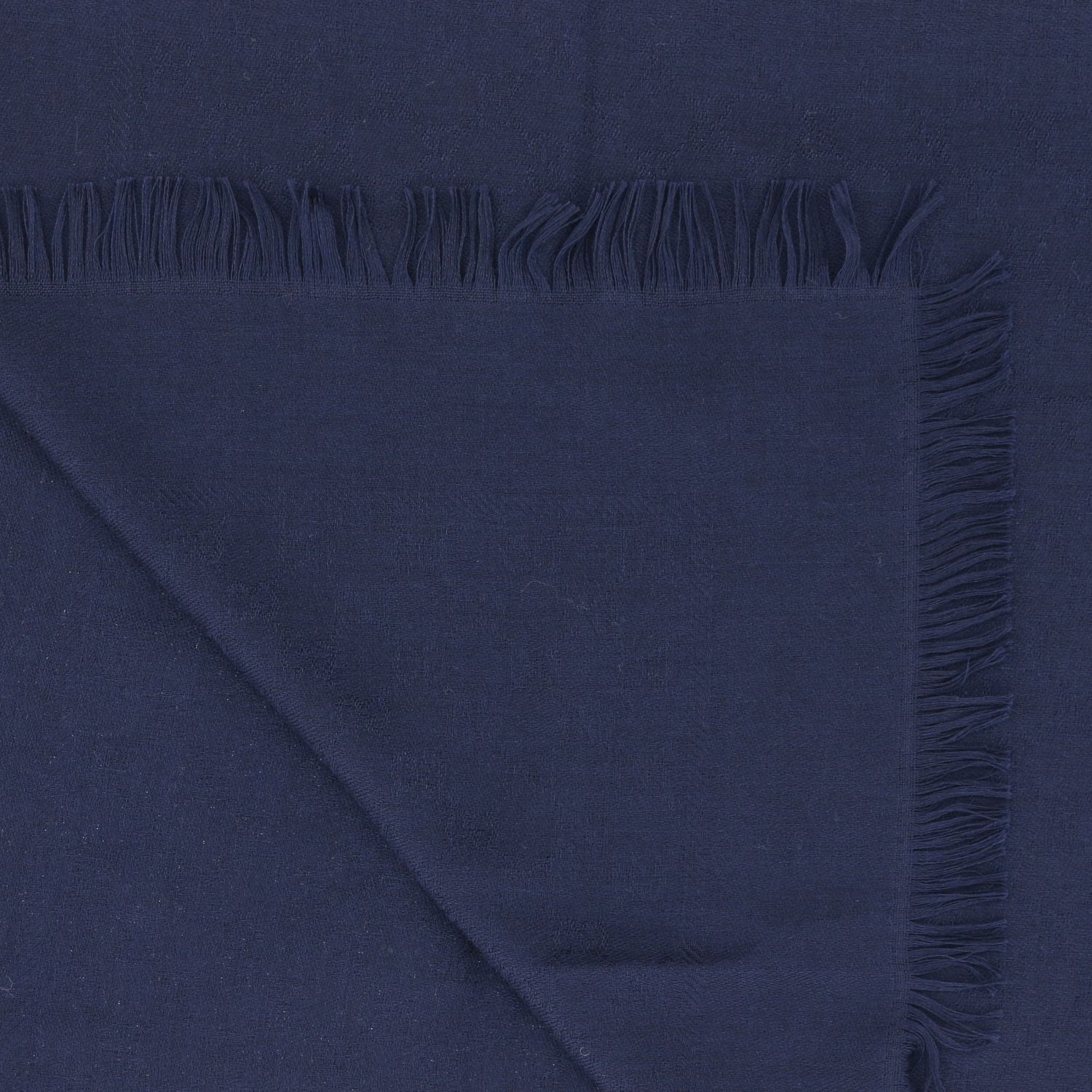 Gucci scarf in cotton wool and silk navy 3
