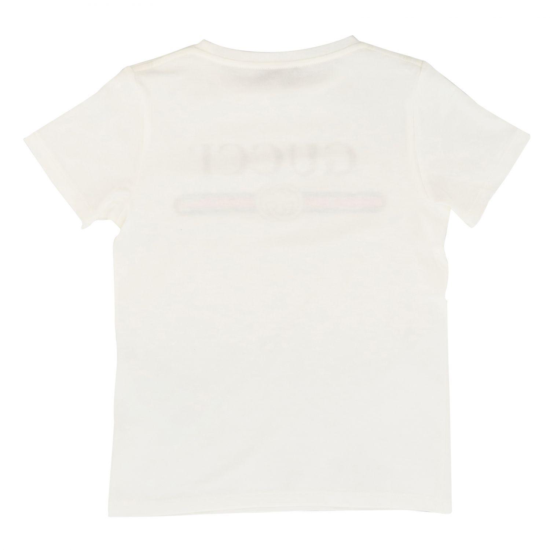 Gucci T-Shirt mit Maxi Gucci Vintage Print weiß 2