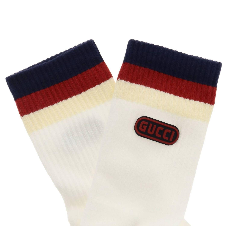 Chaussettes Gucci en éponge avec logo blanc 2