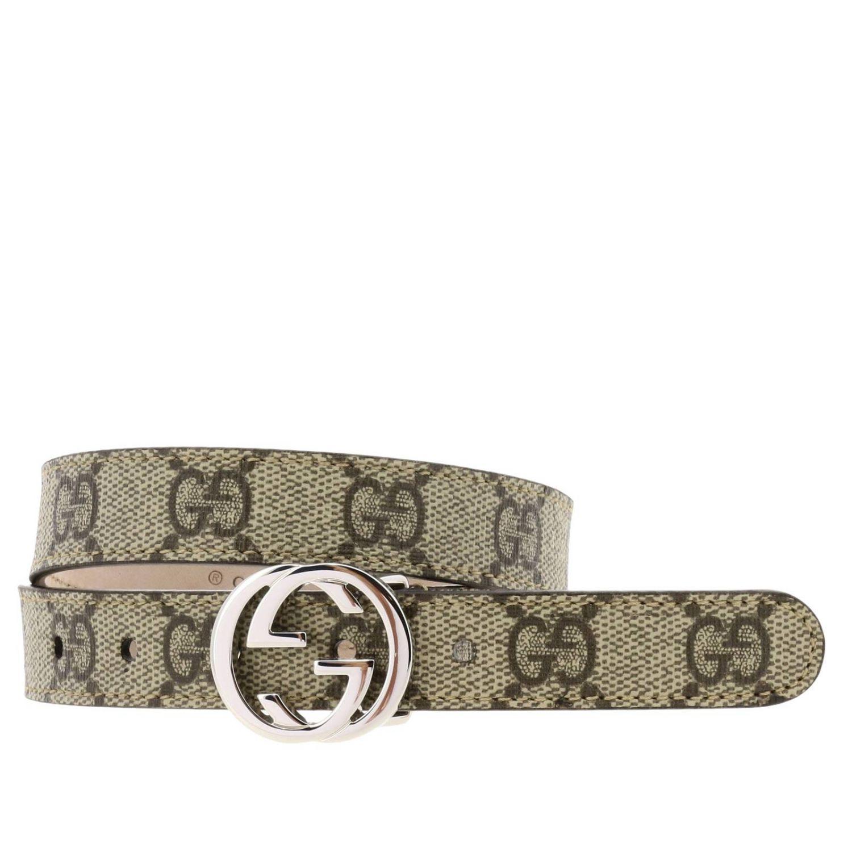 Cintura Gucci: Cintura Gucci GG Supreme in pelle beige 1