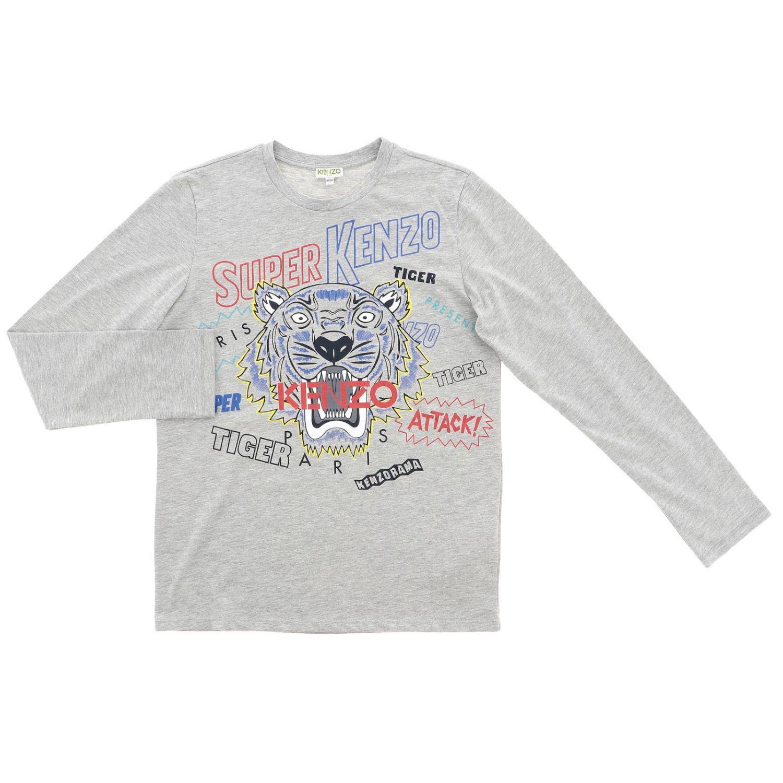 Camiseta niños Kenzo Junior gris 1
