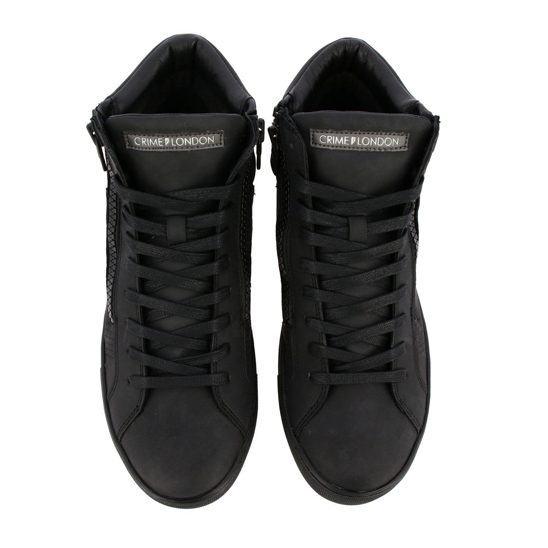 Baskets Crime London: Chaussures homme Crime London noir 3