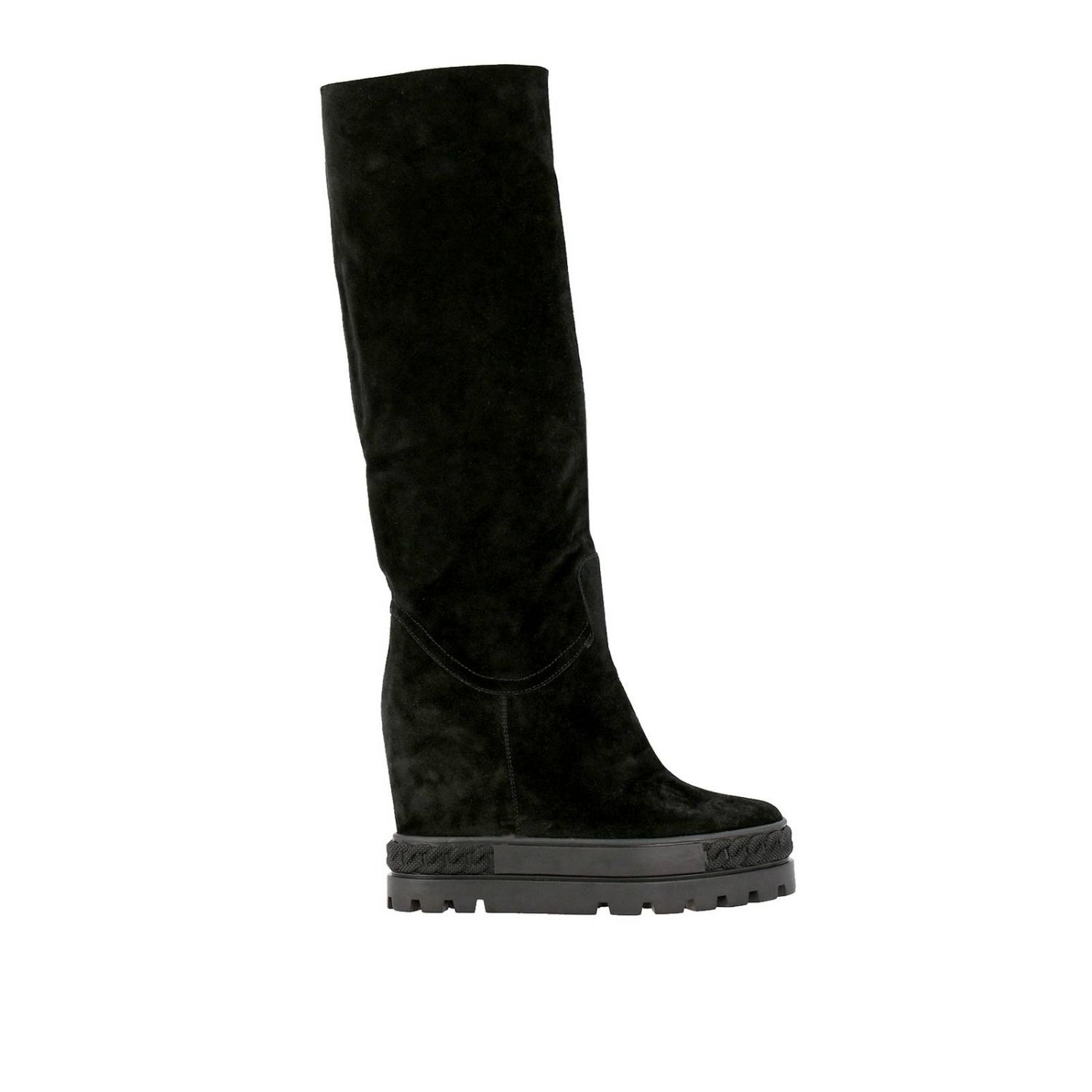 Renna Casadei double face sneaker boots in suede black 5