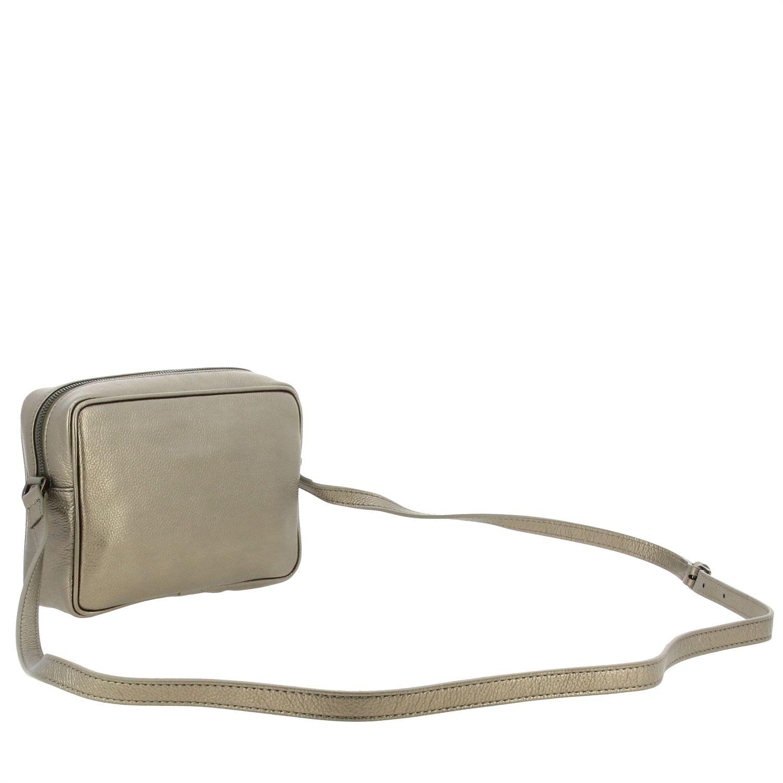 Mini- Tasche Patrizia Pepe: Patrizia Pepe Tasche aus strukturiertem Leder mit Logo charcoal 3