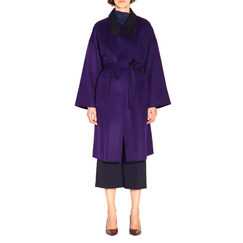 大衣 Patrizia Pepe: 大衣 女士 Patrizia Pepe 紫色 1