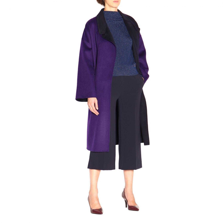 大衣 Patrizia Pepe: 大衣 女士 Patrizia Pepe 紫色 2