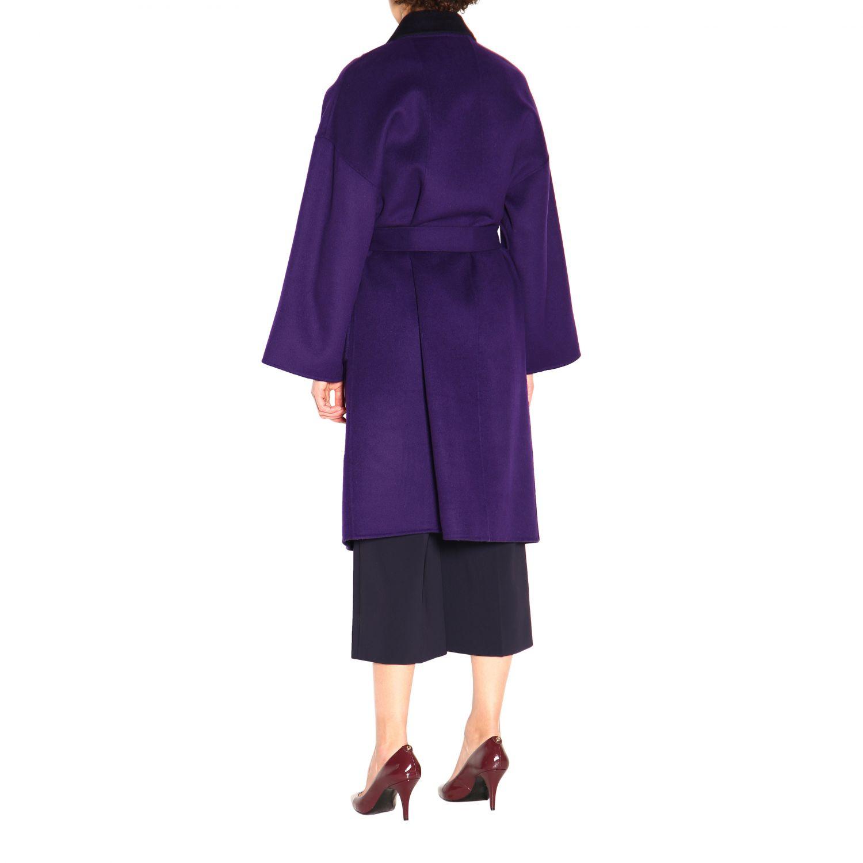 大衣 Patrizia Pepe: 大衣 女士 Patrizia Pepe 紫色 3