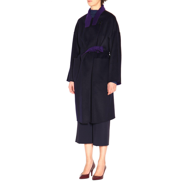 大衣 Patrizia Pepe: 大衣 女士 Patrizia Pepe 紫色 4
