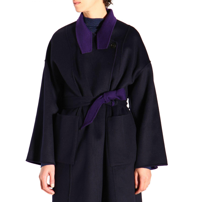 大衣 Patrizia Pepe: 大衣 女士 Patrizia Pepe 紫色 5