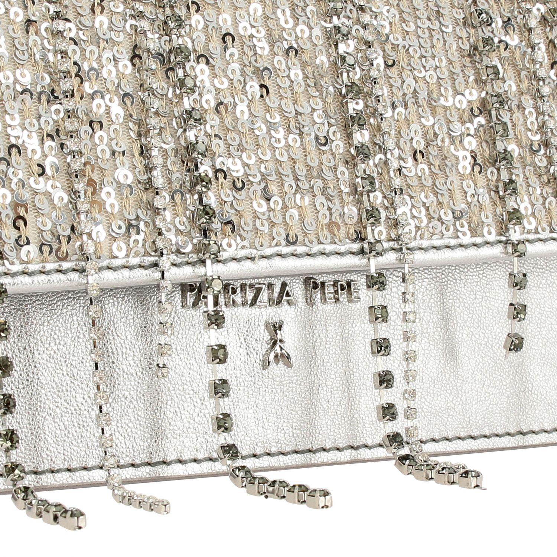 Mini bag Patrizia Pepe: Shoulder bag women Patrizia Pepe silver 4