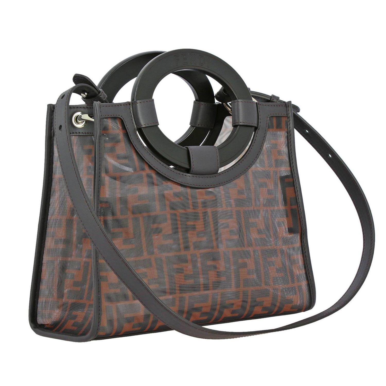 Shoulder bag women Fendi tobacco 3
