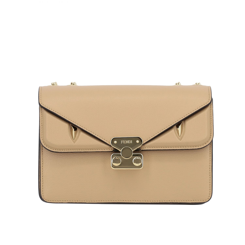 Petit sac Fendi Bug bags en cuir beige 1