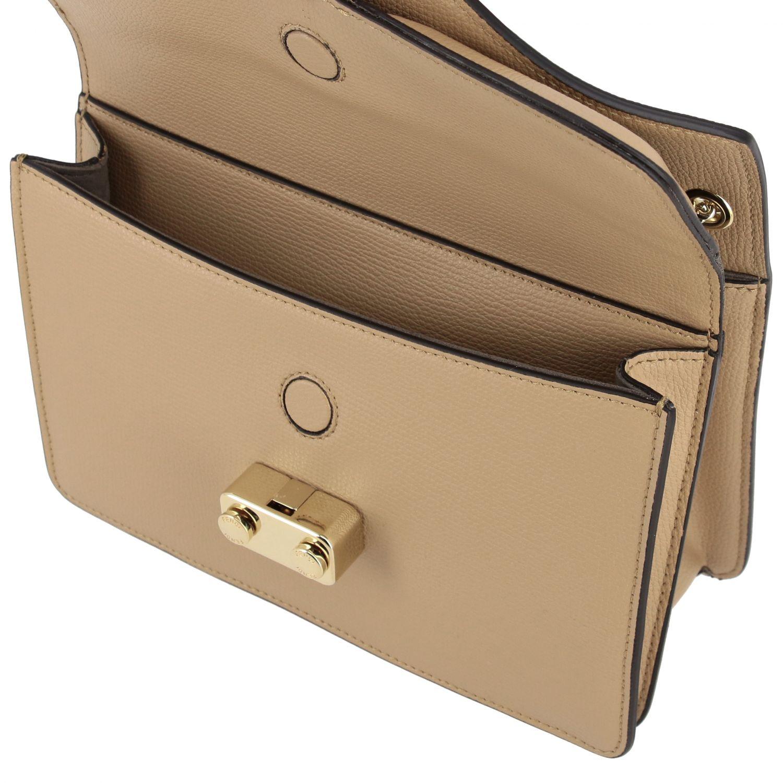 Petit sac Fendi Bug bags en cuir beige 4
