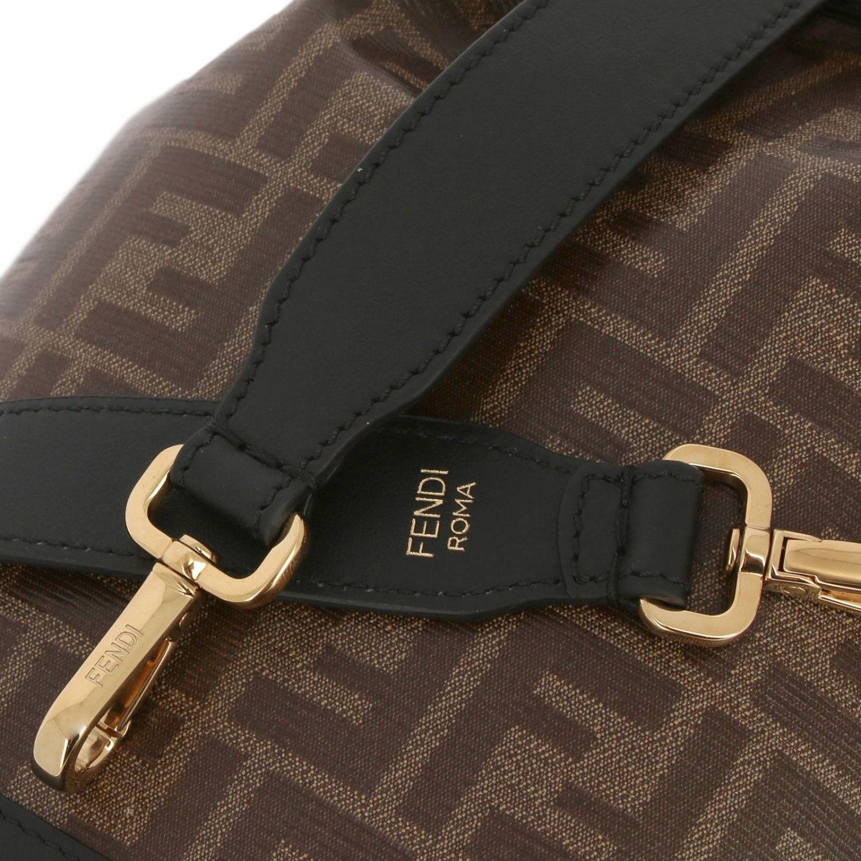 Сумка через плечо Fendi: Сумка Feresi Mon из кожи с монограммой FF черный 4