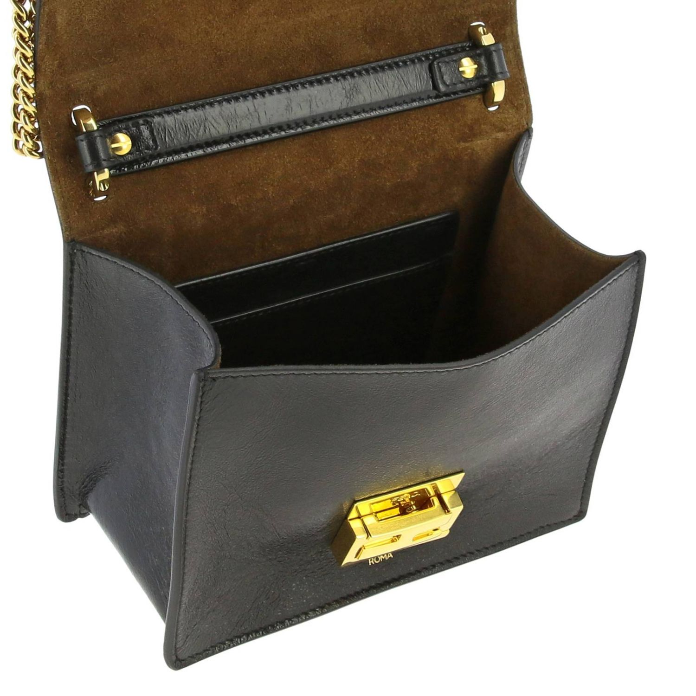 Мини-сумка Fendi: Сумка Kan I Fendi из мягкой кожи cracklè черный 5