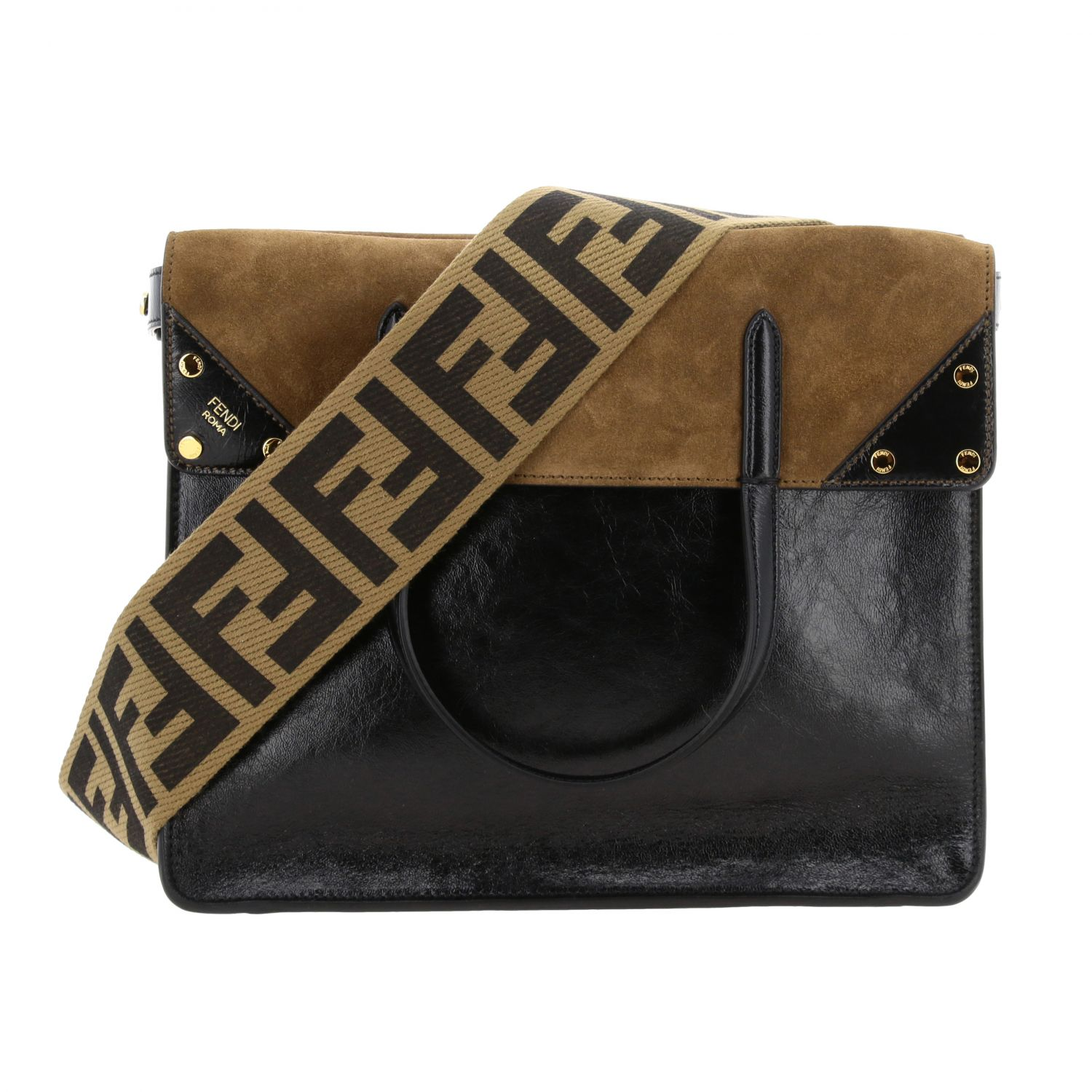 Shoulder bag women Fendi black 4