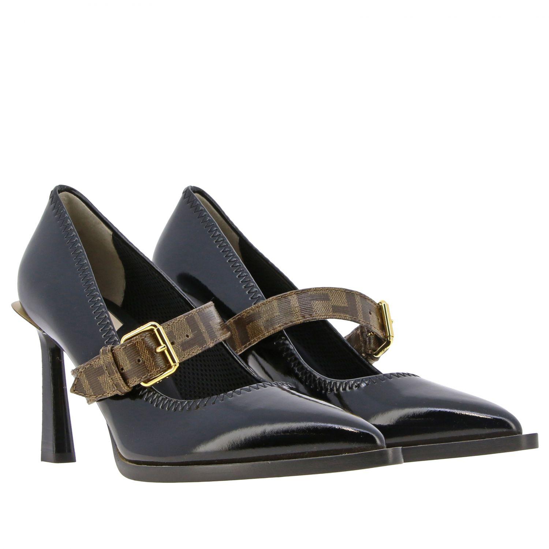 鞋 女士 Fendi 黑色 2