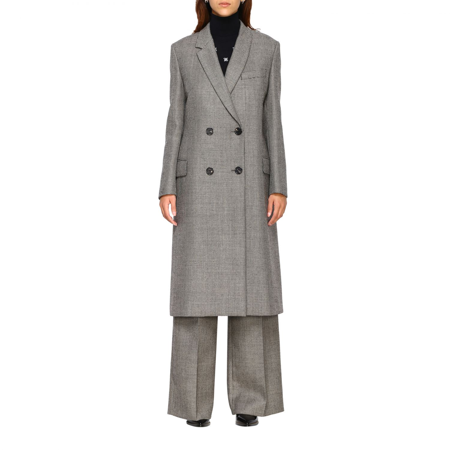 Coat women Fendi grey 1
