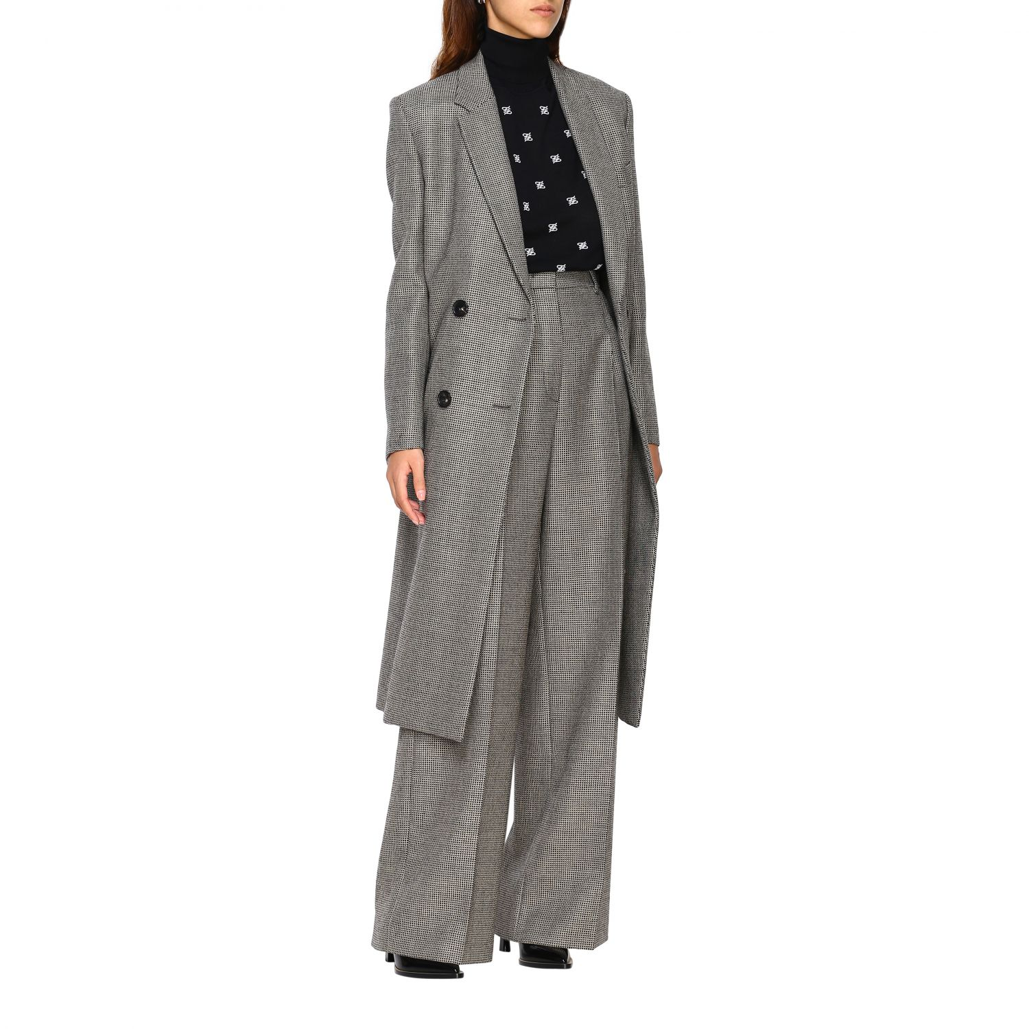 Coat women Fendi grey 2