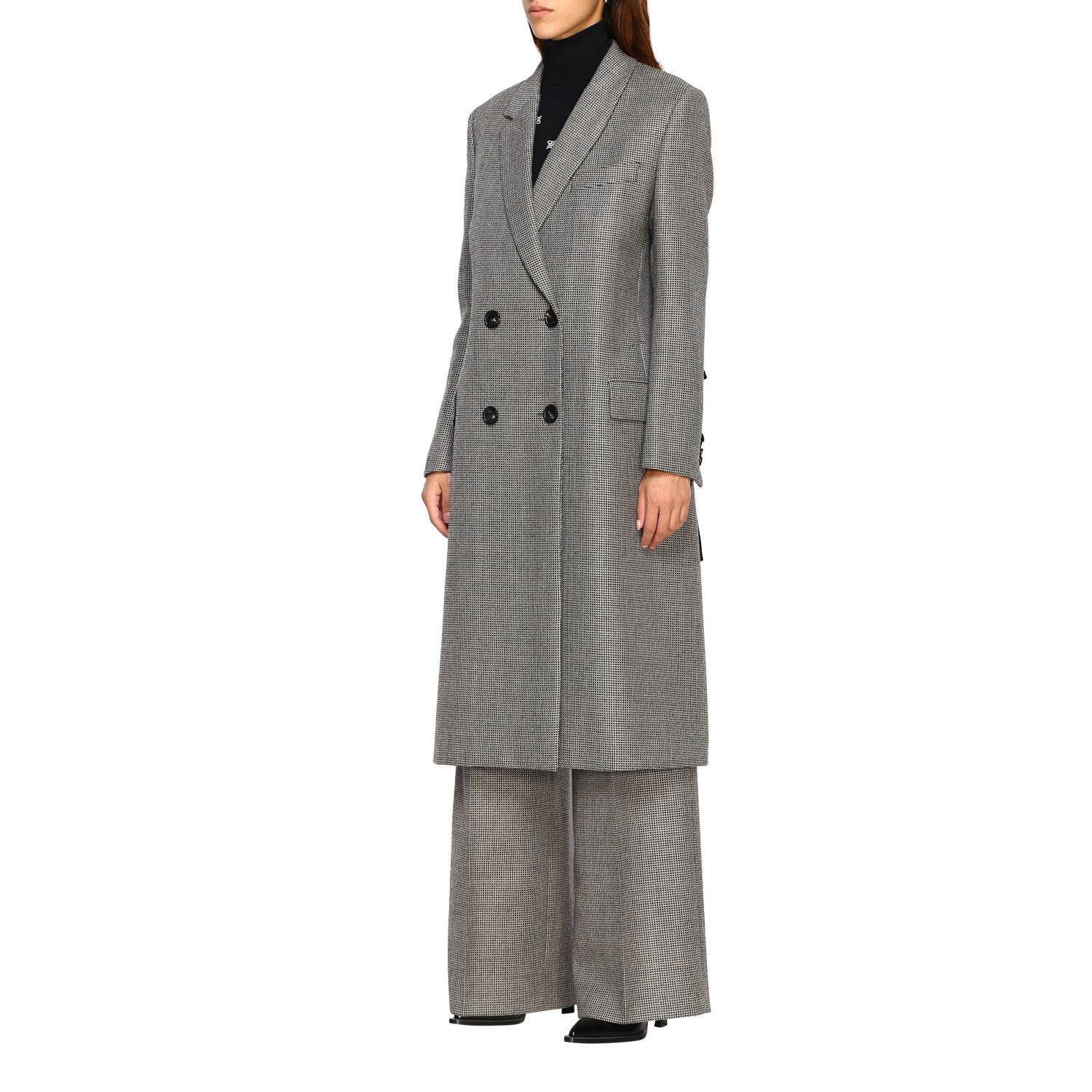 Coat women Fendi grey 4