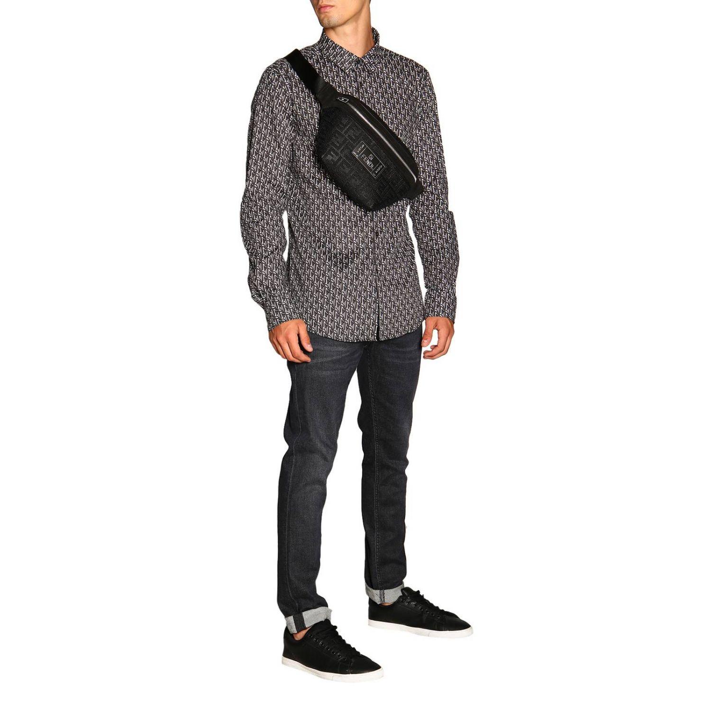 Camicia Fendi con stampa FF all over grigio 2