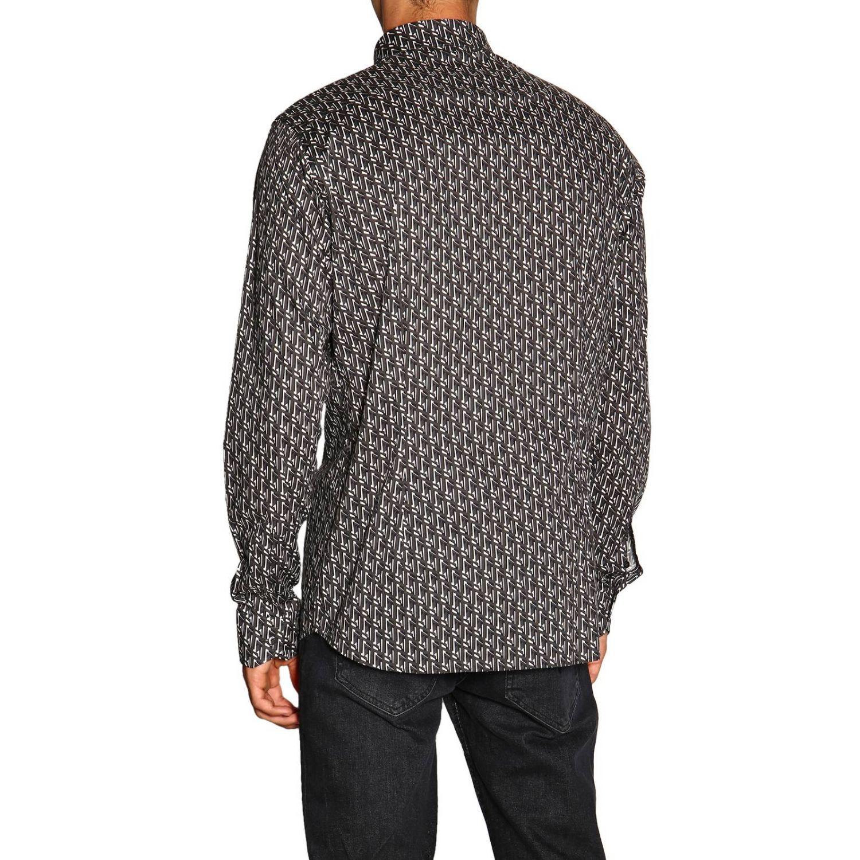 Camicia Fendi con stampa FF all over grigio 3