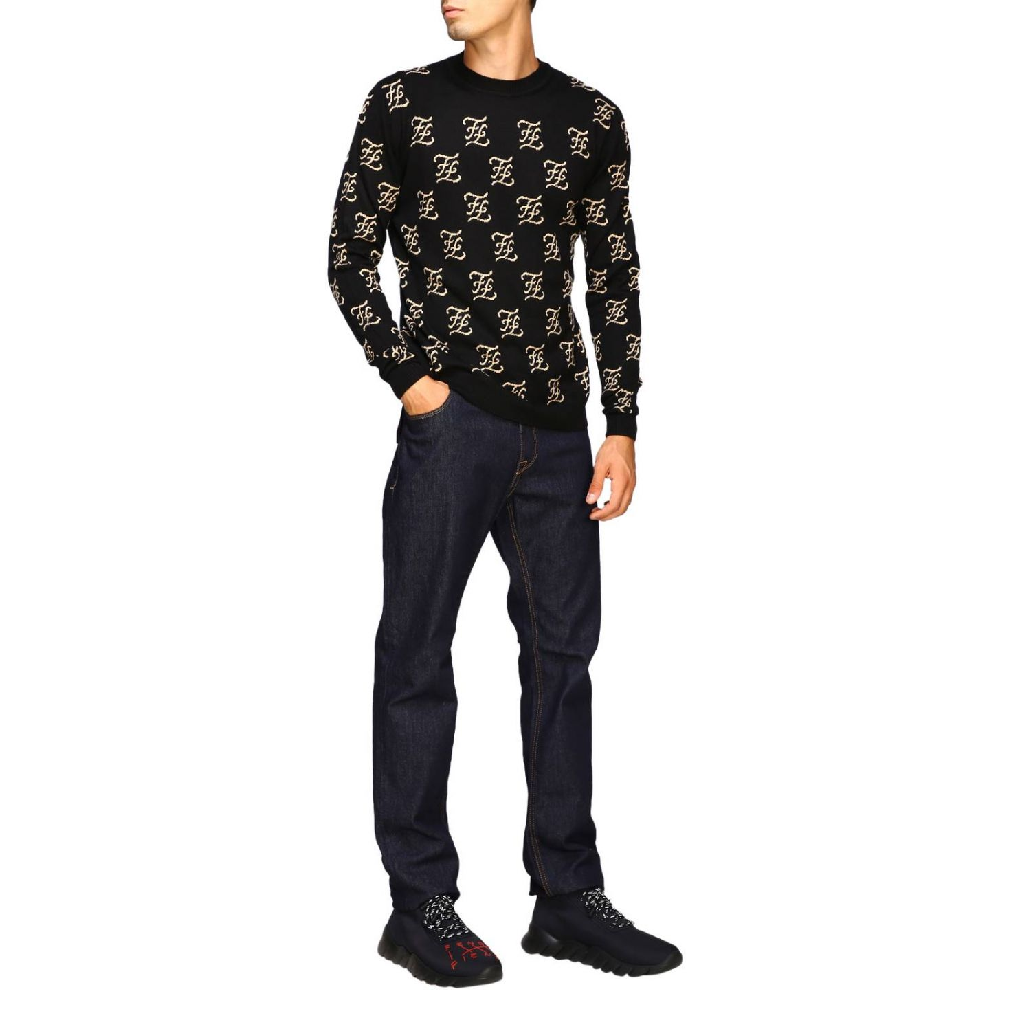 Sweater men Fendi black 2