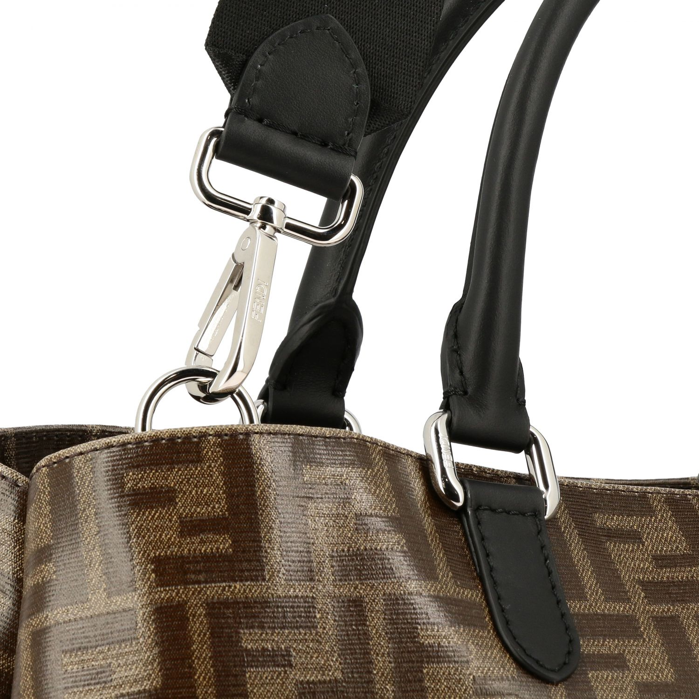 Сумка Fendi: Сумка Fendi из кожи с узором из логотипов FF коричневый 4