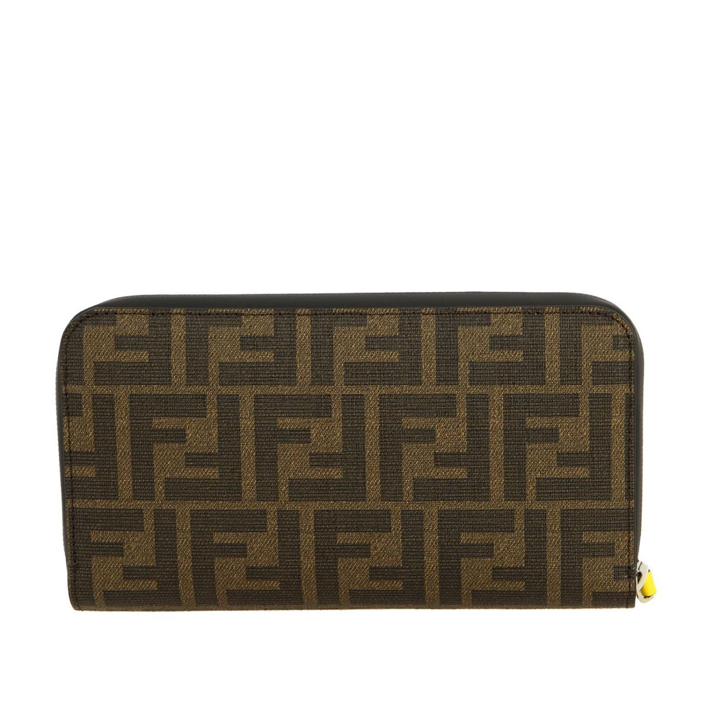 Fendi Continental FF all-over leather wallet with Rome print brown 3
