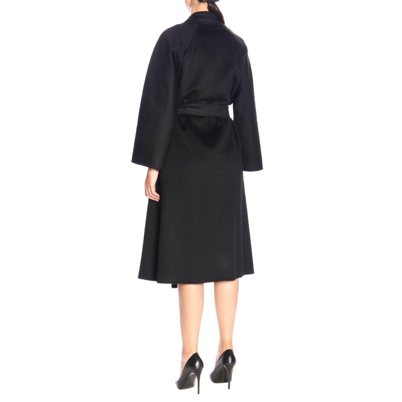 Max Mara Labbro abrigo de cachemire con efecto sable y cinturón negro 3