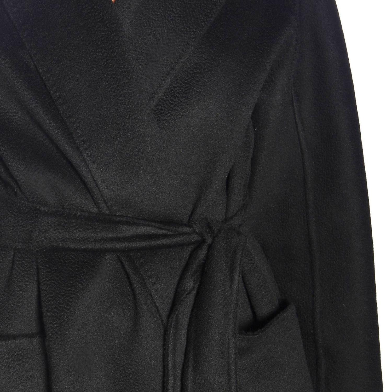 Max Mara Labbro abrigo de cachemire con efecto sable y cinturón negro 4